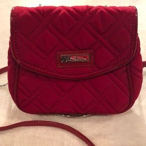 Vera Bradley ChainStrap Red Mini Quilted Crossbody